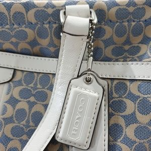 Coach Chambray with Ivory Jacquard Tote F28927